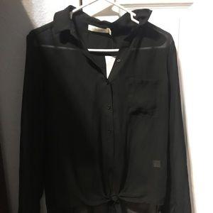 Tops - Black sheer shirt